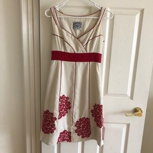 Anthropologie Dresses - Anthro • Coral Way Floral Red Embroidered Dress